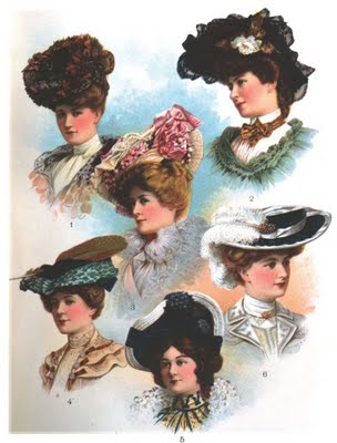 HAIR STYLES AND HATS. Hats 1900 s a74338267e7