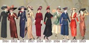 FASHION IN THE 1910'S