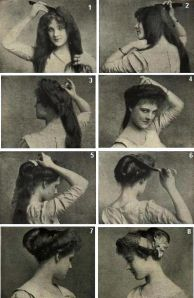 Hair style in the 1910's